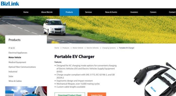 BizLink EV charger