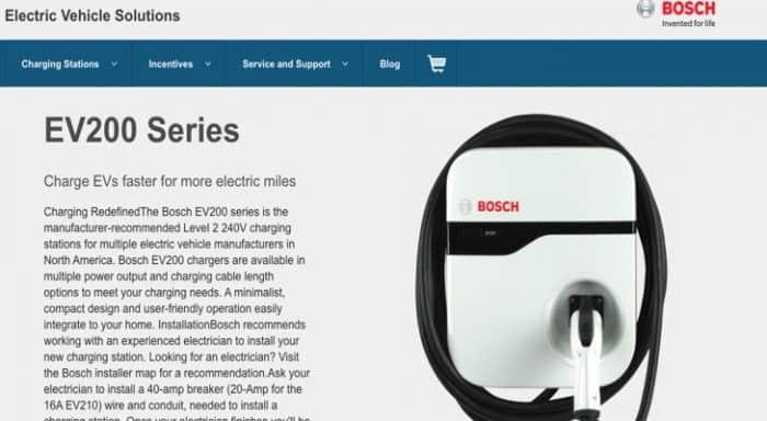 Bosch EV charger