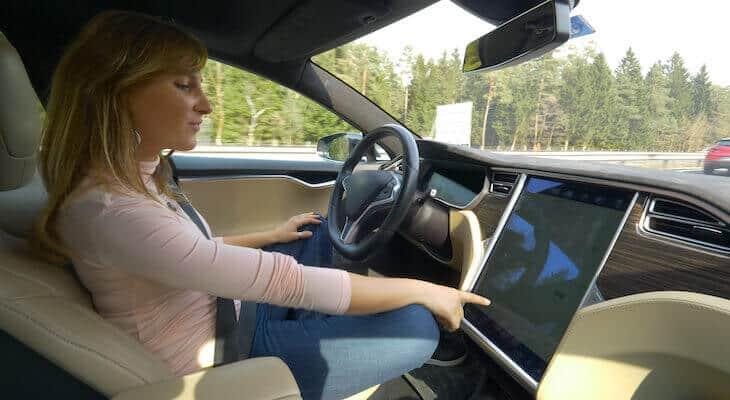 Woman drives used Tesla