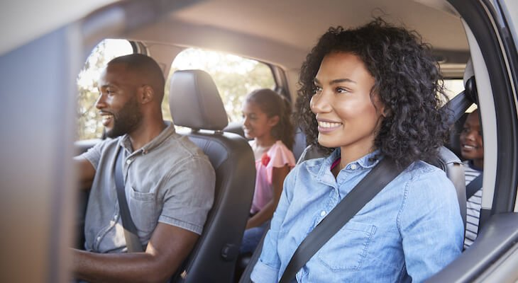 Safest electric cars: Family in car together