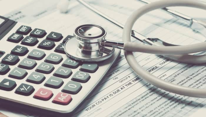 MRI medical bill on a doctor's desk