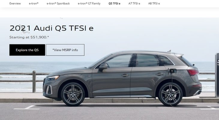 Best hybrid crossover: Audi Q5 TFSI e PHEV