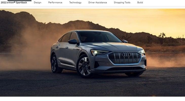 All wheel drive electric car: Audi e-tron Sportback