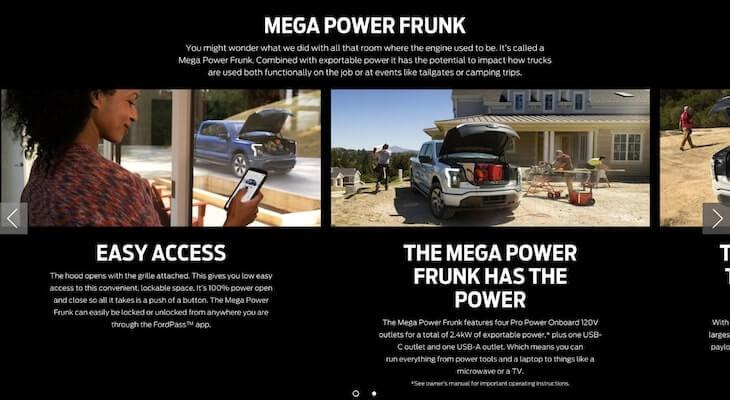 Ford vs Tesla Truck: Ford F-150 Lightning frunk