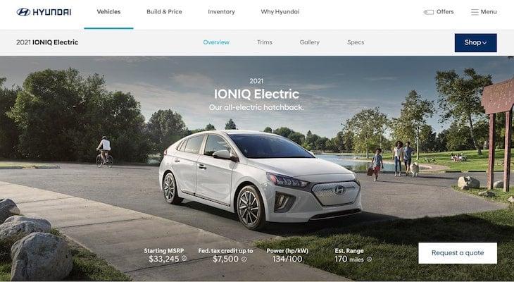 Hyundai homepage