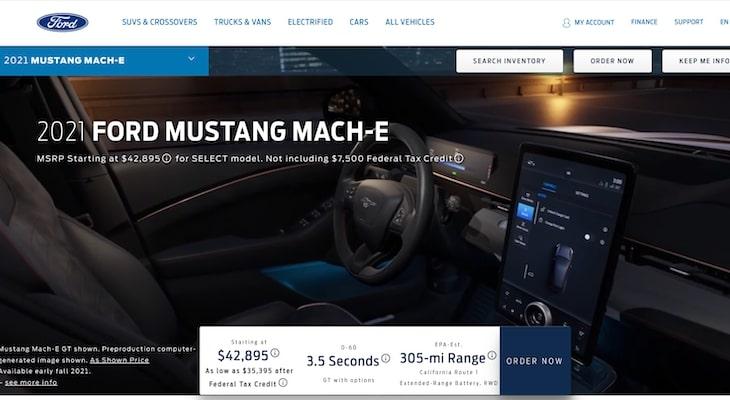 Mach E vs Model Y: Mustang Mach E interior