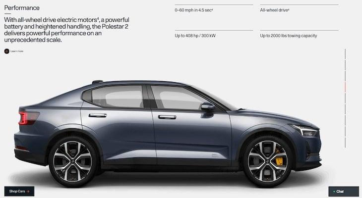 All wheel drive electric car: Polestar 2