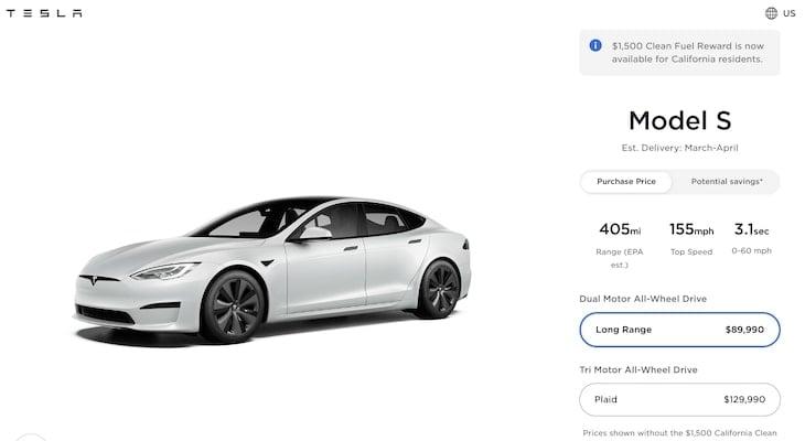 Tesla resale value: Tesla Model S