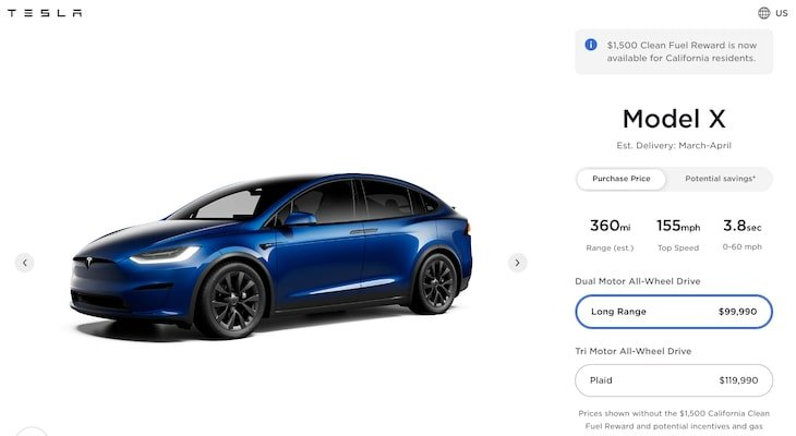 Tesla resale value: Tesla Model X
