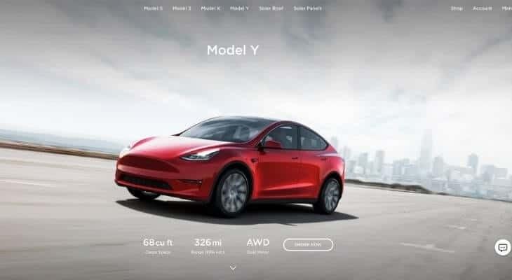 Tesla financing rates: Tesla Model Y