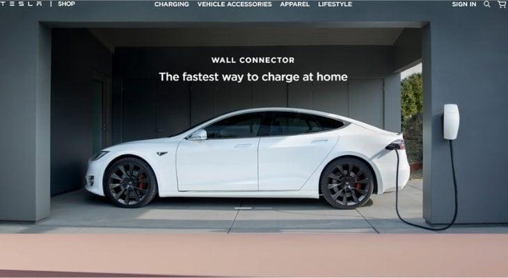 Tesla financing rates: Tesla wall connector