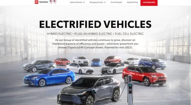 Top electric car companies: Toyota