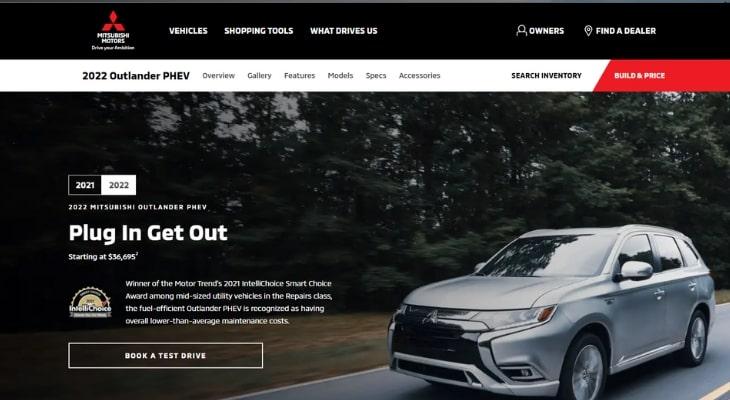 Most reliable hybrid cars: Mitsubishi Outlander PHEV