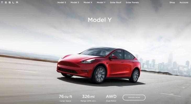 Electric crossover: Tesla Model Y